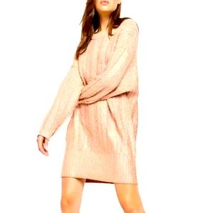 NWT FREE PEOPLE  Good As Gold knit sweater dress